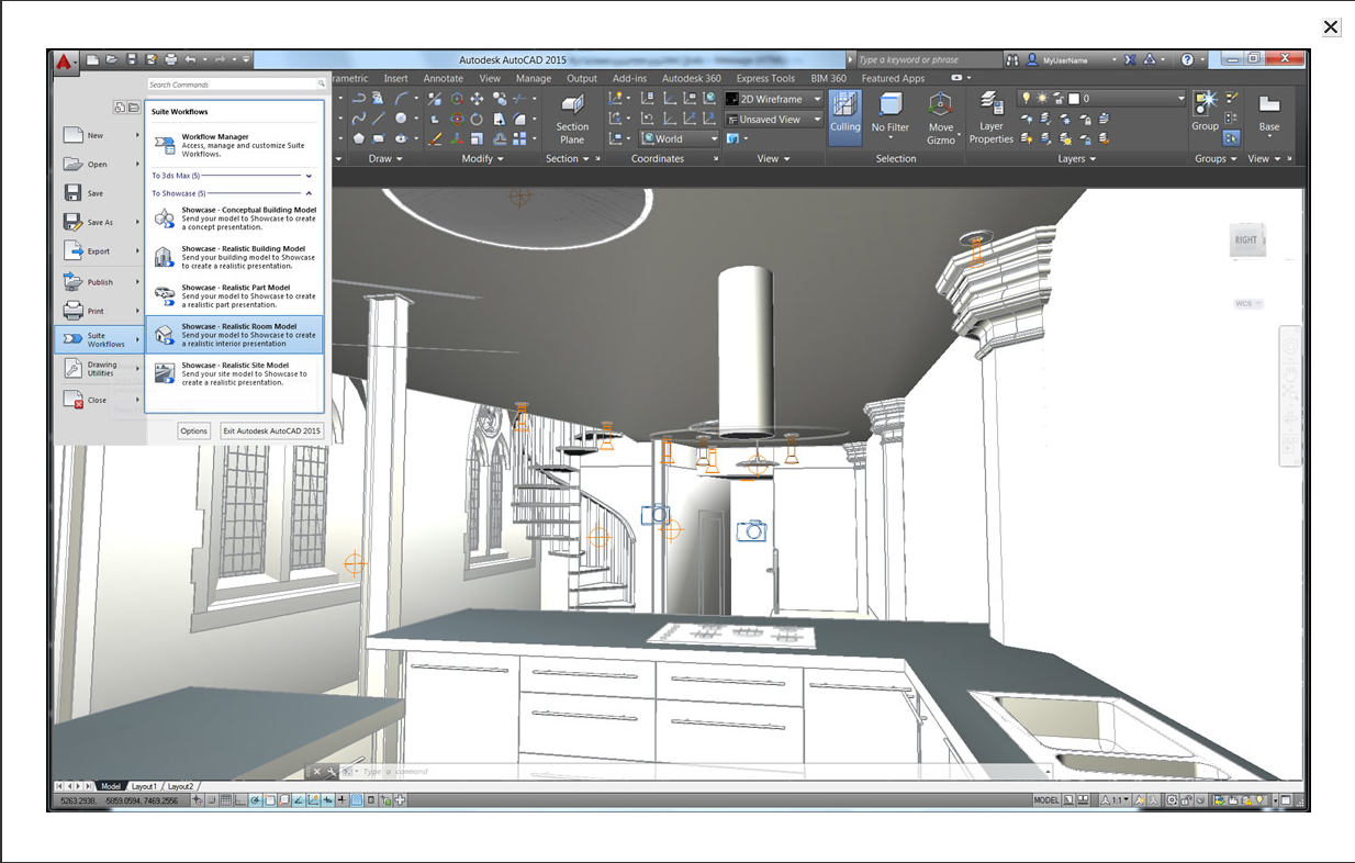 Autodesk showcase 2016 3d visualization software brings 3d cad software