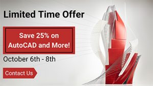 October Deal Days AutoCAD Promo